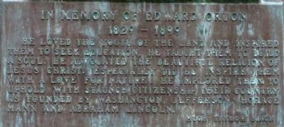 Orton Memorial plaque, showing text image. Click for full size.
