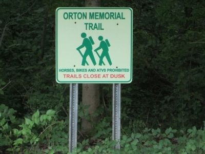 Orton Memorial Trail sign image. Click for full size.
