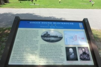 Bogue Sound Blockhouse Marker image. Click for full size.