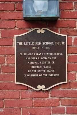 The Little Red School House Marker image. Click for full size.