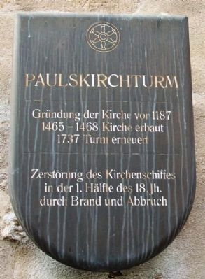Paulskirchturm / Paul's Church Tower Marker image. Click for full size.