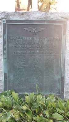 Orangeburg World War II Memorial image. Click for full size.