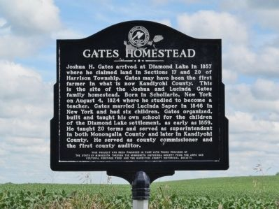 Gates Homestead Marker image. Click for full size.