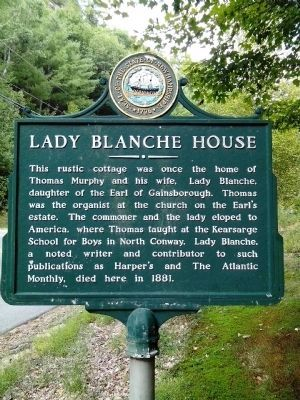 Lady Blanche House Marker image. Click for full size.