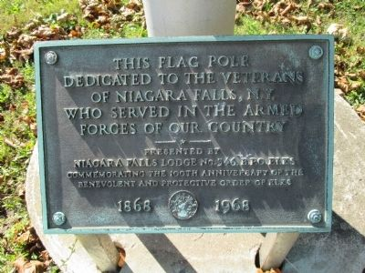 Plaque at adjacent Flagpole image. Click for full size.