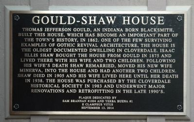 Gould--Shaw House Marker image. Click for full size.