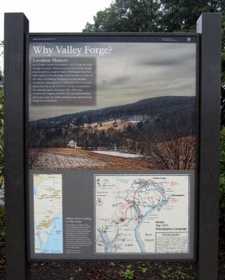 Why Valley Forge? Marker image. Click for full size.