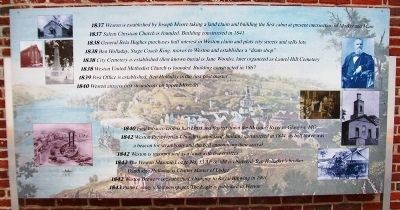 Timeline of Weston History Marker Panel 1 image. Click for full size.
