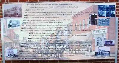 Timeline of Weston History Marker Panel 2 image. Click for full size.