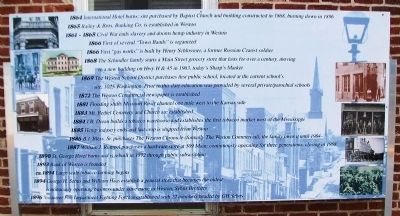 Timeline of Weston History Marker Panel 3 image. Click for full size.