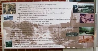 Timeline of Weston History Marker Panel 4 image. Click for full size.