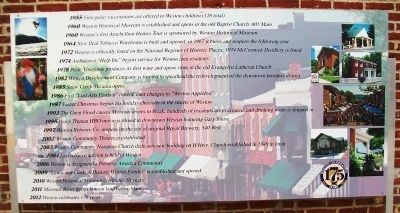 Timeline of Weston History Marker Panel 5 image. Click for full size.
