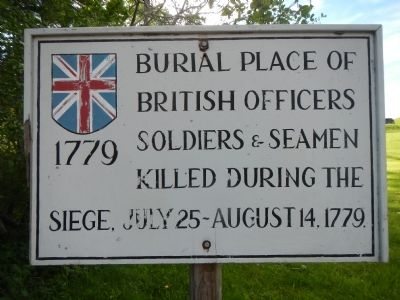 Burial Place of British officers, Marker image. Click for full size.