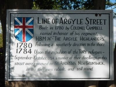 Line of Argyle Street Marker image. Click for full size.