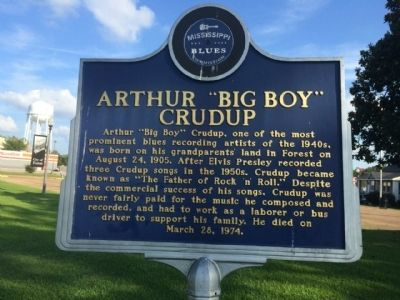 "Arthur ""Big Boy"" Crudup Marker (Front) image. Click for full size."