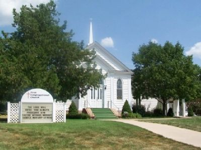 The Congregational Church of Tonganoxie and Marker image. Click for full size.