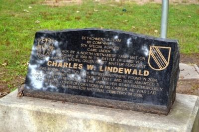Charles W. Lindewald Marker image. Click for full size.
