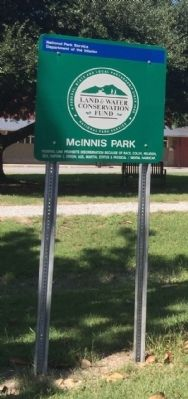 Marker located in McInnis Park image. Click for full size.