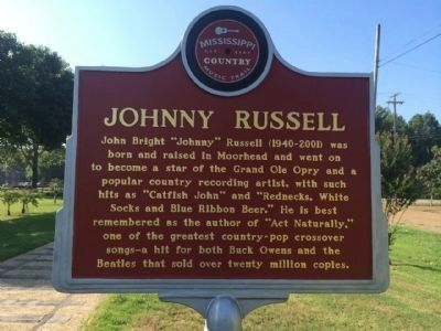 Johnny Russell Marker (Front) image. Click for full size.