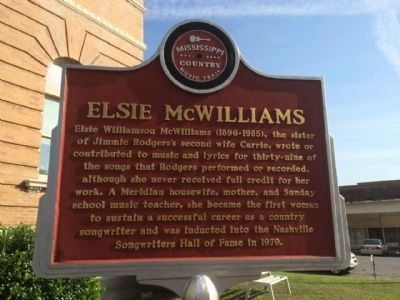 Elsie McWilliams Marker (Front) image. Click for full size.