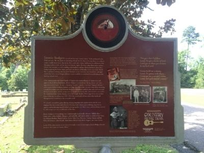 Jimmie Rodgers Marker (Rear) image. Click for full size.