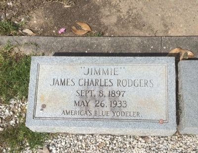 Jimmie Rodgers Grave Marker nearby image. Click for full size.