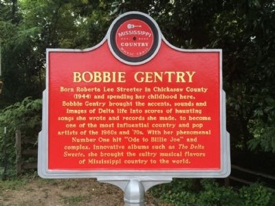 Bobbie Gentry Marker (Front) image. Click for full size.