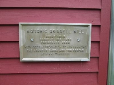Grinnell Mill Marker image. Click for full size.