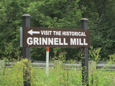 Historic Grinnell Mill sign image. Click for full size.