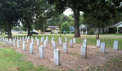 Confederate memorial markers. image. Click for full size.