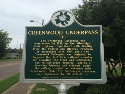 Greenwood Underpass Marker image. Click for full size.