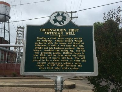 Greenwood's First Artesian Well Marker image. Click for full size.