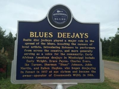 Blues Deejays Marker (Front) image. Click for full size.