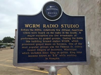 WGRM Radio Studio Marker (Front) image. Click for full size.