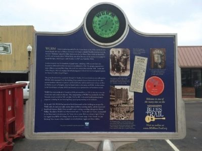 WGRM Radio Studio Marker (Rear) image. Click for full size.