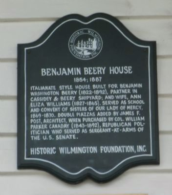 Benjamin Beery House Marker image. Click for full size.