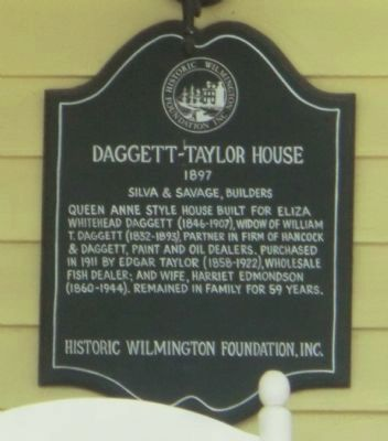 Daggett-Taylor House Marker image. Click for full size.
