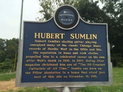 Hubert Sumlin Marker (Front) image. Click for full size.