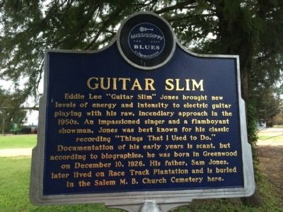 Guitar Slim Marker (Front) image. Click for full size.