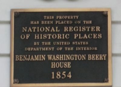 Benjamin Washington Beery House 1854 image. Click for full size.