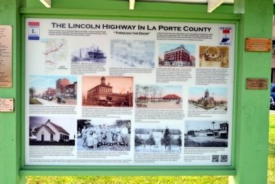 The Lincoln Highway in La Porte County Marker image. Click for full size.