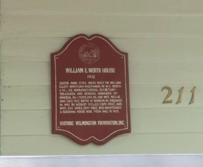 William E Worth House Marker image. Click for full size.