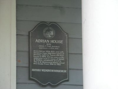 Adrian House Marker image. Click for full size.