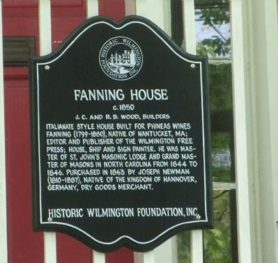 Fanning House Marker image. Click for full size.