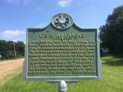 <i>C.S.S. Arkansas</i> Marker image. Click for full size.