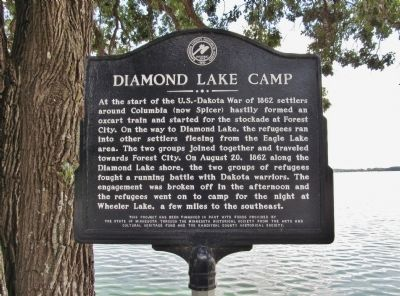 Diamond Lake Camp Marker image. Click for full size.