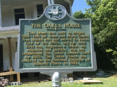 The Oakes House Marker image. Click for full size.
