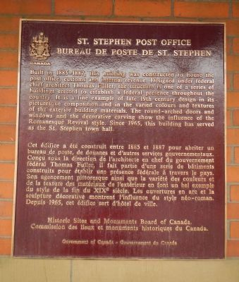 St. Stephen Post Office Marker image. Click for full size.
