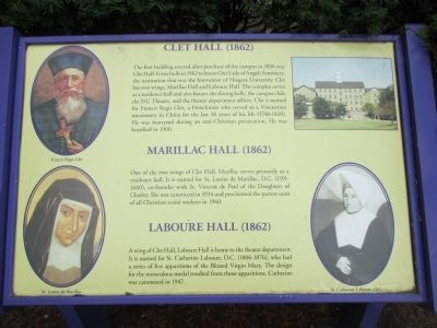 Clet Hall, Marillac Hall, Laboure Hall Marker image. Click for full size.