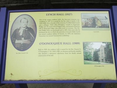 Lynch Hall (1927), O'Donoughue Hall (1909) Marker image. Click for full size.